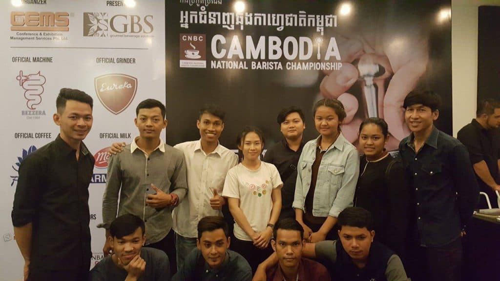 Footprint's Barista Piseth makes it to the semi-finals of the Cambodian National Barista competition